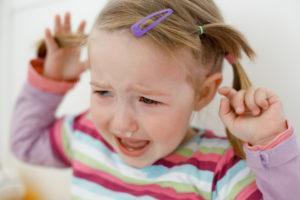 child having tantrums